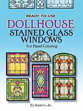 READY TO USE DOLLHOUSE STAINED GLASS WINDOWS NEW PAPERBACK BOOK