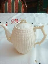 "Coffee Pot & Lid in Limpet Yellow  Belleek Pottery (Ireland) 8"" tall by 8 1/2""[6"