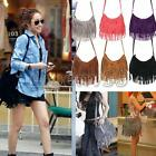 Women Celebrity Fashion Fringe Tassel Shoulder Messenger Bag Cross Body Handbag