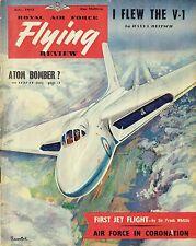 RAF FLYING REVIEW JUL 53: FLYING THE V.I/ AVRO VULCAN/ 1st JET FLIGHT/ FLY-PAST