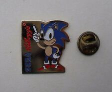 SONIC THE HEDGEHOG locale RARO KELLOGG'S VINTAGE PROMO in metallo smaltato pin badge pin