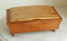 OLD RETRO VINTAGE JOINTED WOOD WOODEN MUSIC BOX 60's
