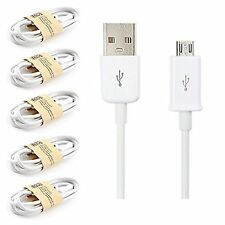 Confezione di 5 BIANCA USB Micro SYNC CABLE CHARGER PER AMAZON Kindle Fire Kindle WiFi