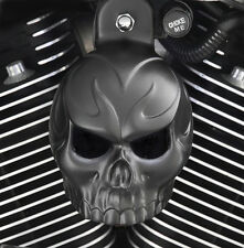 Skull Horn Cover. Satin black powder coat. Harley Davidson. SKU-BSET-1