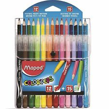Maped Combination Pack Color'Peps Markers and Pencil Crayons Colouring Felt Tips