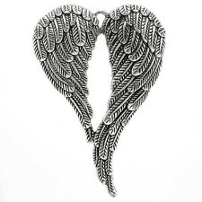 5 PCs Charm Silver Tibetan Pendants Angel Wing Jewelry Findings