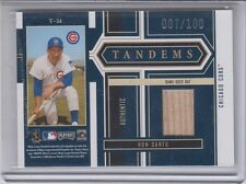 2004 Playoff Honors Tandems Chicago Cubs Mark Prior Ron Santo Hat Bat /100
