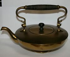 Vintage Copper Kettle Tea Pot Teapot With Wood Wooden Handle S&S Co. S & S Co.