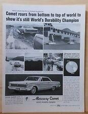 1964 magazine ad for Mercury - Comet, World Durability Champion photos