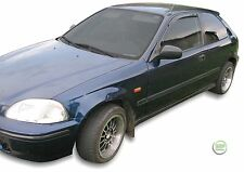 DHO17106 HONDA  CIVIC EJ / EK 3 DOOR 1995-2000 WIND DEFLECTORS  2pc HEKO TINTED