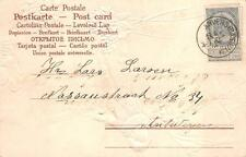 NEW YEAR HOLIDAY BELGIUM SCOTT #60 STAMP WITH LABEL POSTCARD 1904