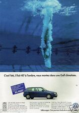 Publicité advertising 1996 VW Volkswagen Golf
