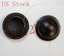 "2pcs 25.4mm 25.5mm (1"") silk diaphragm dome Tweeters voice coil  8ohm, US STOCK"