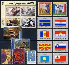 UN - New York . 2001 Year Set Stamps & Sheet - Mint Never Hinged