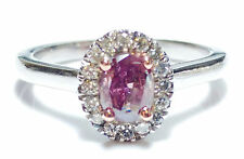 Purple Collection 0.66ct Fancy Deep Purple Pink Diamond Engagement Ring 14K GIA