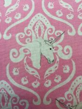 RPA314 Unicorn Horses Damask Pink Princess Cotton Fabric Quilt Fabric