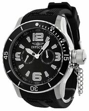 New Mens Invicta 1790 Corduba Diver Black Dial Rubber Strap Analog Watch