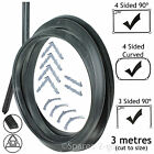 3m Door Seal for AEG Baumatic 3 or 4 Sided Oven Cooker (Rounded or 90º Clips)