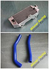 Aluminum Radiator &Blue Silicone Hose Yamaha YZ85 84.7cc/85cc 2-Stroke 2002-2016