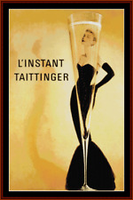 15% Off XS-Collectibles counted X-stitch chart - L' Instant Tattinger