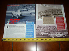 AMERICAN MOTORS AMC DRAG RACE CARS AMX HORNET GREMLIN - ORIGINAL ARTICLE