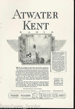 1924 ATWATER KENT advertisement, Atwater Kent TRF radio & horn