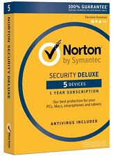 Norton Security Deluxe 2016 - 5 Device for PC/MAC/Android/iOS ✔NEW✔