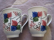 Set Of 2 Portmeirion Pottery Stoke On Trent Floral Mugs Made In England