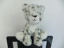 MARKS & SPENCER M AND S WHITE SNOW LEOPARD GREY CAT KITTEN SOFT CUDDLY TOY NEXT