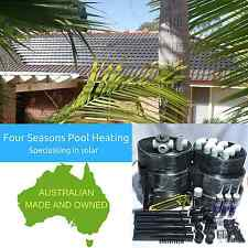 30M2 MANUAL DIY POOL/SPA 12 TUBE SOLAR HEATING KIT & 3 WAY VALVE USES POOL PUMP