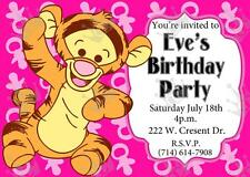 Pooh's Friend TIGER Template Baby Shower/Birthday Party Invites Boy/Girl