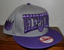 Transformers SNAPBACK FlatBill Hat Decepticons EMBROIDERED NEW ERA 9Fifty
