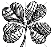 100 PROOF PRESS RUBBER STAMPS FOUR LEAF CLOVER STAMP