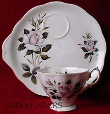 ROYAL ALBERT china QUEEN'S MESSENGER pattern 6 oz. SNACK CUP & PLATE Set