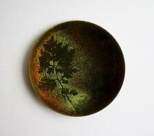 Vtg. Mid Century Modern Copper Enamel Plate