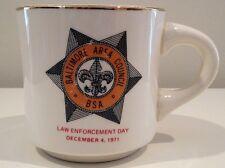 Baltimore Area Council Boy Scout Law Enforcement Day 1971 Vintage Ceramic Mug