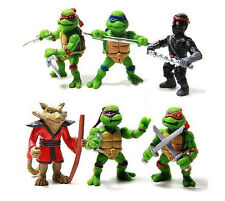Teenage Mutant Ninja Turtles Cake Toppers 6 Figuras Nuevo Libre p+p