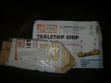 HOME DEPOT KIDS WORKSHOP TABLETOP SHIP BOAT KIT LOWES BUILD & GROW WOOD PROJECT