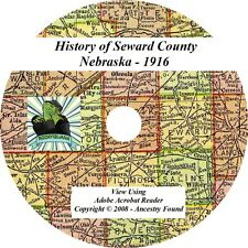 1916 History & Genealogy of Seward County Nebraska NE