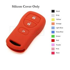 Silicone Skin Jacket Cover Holder fit for Nissan Remote Key Case Shell 3 BTN OR