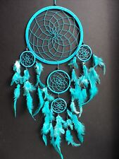 LARGE TURQUOISE BLUE DREAM CATCHER BEDROOM NURSERY DECORATION NEW DREAMCATCHER