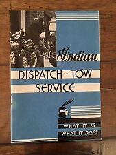 Antique 1931 Indian Dispatch-Tow Service Motorcycle Sales Brochure 3 Wheeler