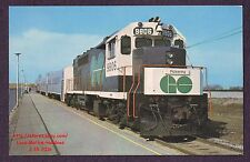 LMH Postcard  GO TRANSIT Government Ontario GP40TC 9806 CANADIAN NATIONAL CN CNR