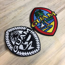 Modern and Tribal Guam Seal Patches - 3.25 Inches