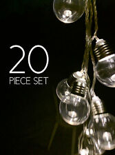 20 Piece LED Clear Christmas Light, Warm White Vintage Style, Connectable String