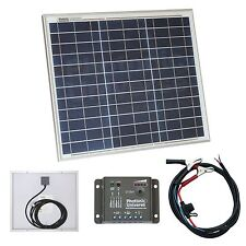 30W solar panel kit / 12V battery charger for motorhome, camper, caravan or boat