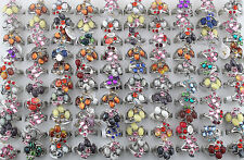 wholesale Mix Lot 30pcs Crystal Rhinestone&zircon Top Quality rings Jewelry Lots