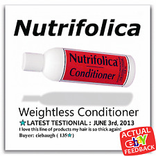 Nutrifolica Treatment Volumizing Conditioner Hair Loss Salon regrowth thicker