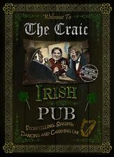 THE CRAIC  TRADITIONAL IRISH PUB SIGN HOME DECOR  VINTAGE STYLE METAL SIGN