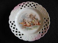"""Periodo edoardiano continentale ceramica 7.5"""" Piercing Barra Multifunzione PIASTRA Heavenly CHERUBINI 1910s"""